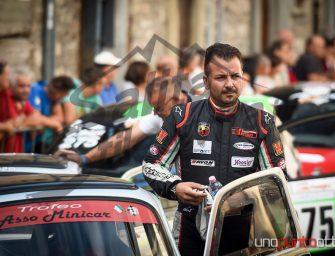 Angelo Mercuri al via del Campionato  Bicilindriche Salita alla Camucia – Cortona